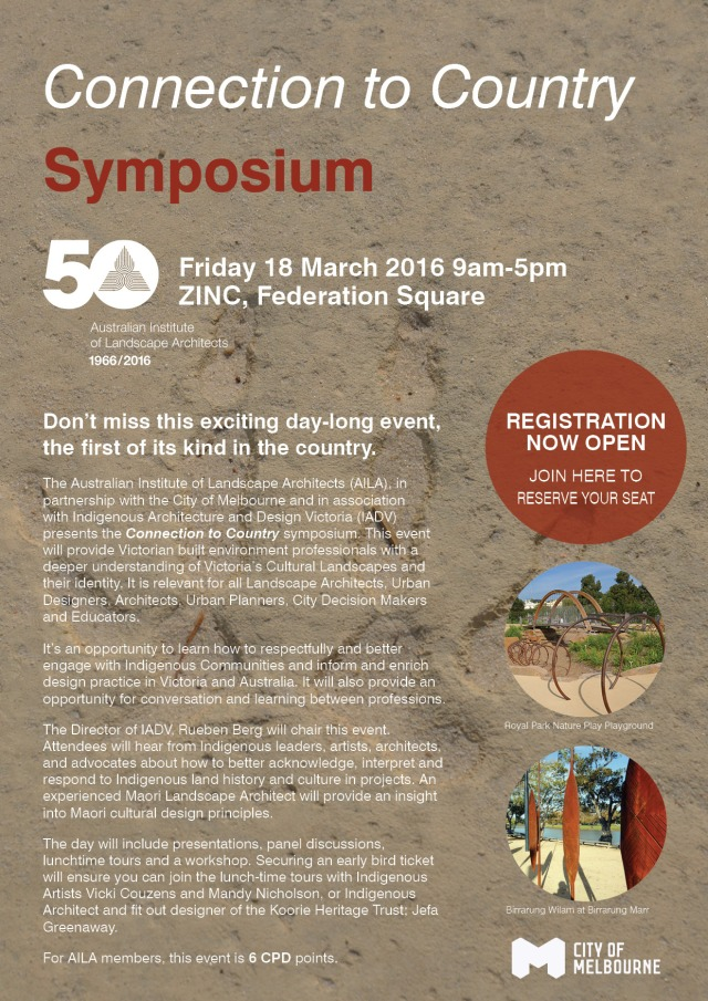 Connection to Country Symposium Event Flyer